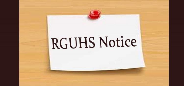 RGUHS Circular for Online Classes